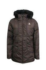 Nike Women's ACG All City Down Jacket Brown Hooded Winter Storm Coat UK Size M