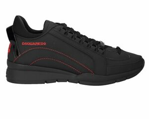 Dsquared2 551 Sneakers Snm0505 M002 Leather Mens Trainers Black Dsquared Shoes