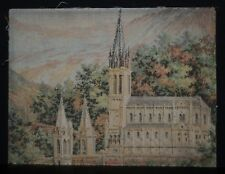 Lourdes - Basilica Our Lady Of Immaculate Conception. C19th Antique Needlework