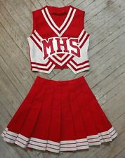 MHS Medford High School Cheerleading White Red Silver Cardinals Cheer Uniform