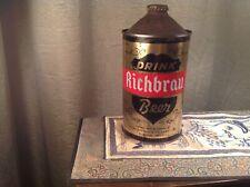 Very Tough Richbrau Quart Cone Top Beer Can-Richmond,Va