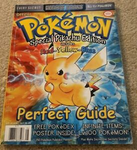 Pokemon Special Yellow Red Blue Versus Strategy Guide Game Boy Color w/ Poster!