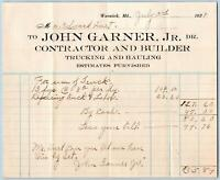 1929 WARWICK MARYLAND*MD*JOHN GARNER*CONTRACTOR BUILDER TRUCKING HAULING + COVER