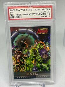 Marvel PSA 10 GEM MT - POP 1 - THE AVENGERS - EVIL CHASE CARD - 2006 AVENGERS