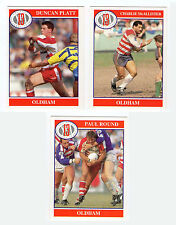 Merlin Rugby League Collection 1991 Full Team Set Oldham Cards freepost