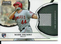 2011 Bowman Sterling Mark Trumbo Rookie  Game Used Relic Card.