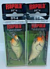 "(2) RAPALA DT-4 CRANKBAITS - 4"" OLIVE GREEN CRAW"