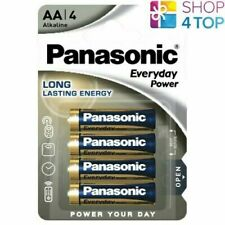4 PANASONIC EVERYDAY POWER AA LR6 ALKALINE BATTERIES 1.5V MN1500 AM3 2029 NEW