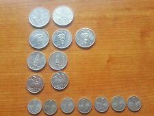 Lotto monete repubblica LIRE 1,2,5,10