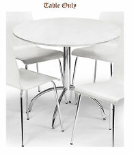 Mandy Dining Set in White Table 4 Chairs lacquered finish  individually priced