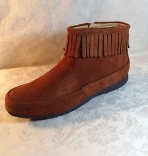 NEW Comfort View Fringed Bootie Size 8 Faux Suede Green/ Brown 0573 Pick A Color