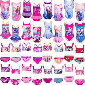 Girls Frozen LOL Surprise Swimwear Swimming Costume Bikini Swimsuit 2-10 years