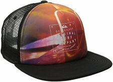 NWT QUIKSILVER Men's VISIONARY Trucker Hat, Flat Billed Cap OSFM
