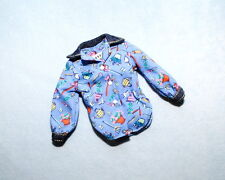 CUTE & COMFY Medium Blue Genuine BARBIE Long Sleeve Shirt w/ Garden Print