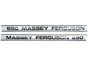 DECAL SET FOR MASSEY FERGUSON 690 TRACTORS.