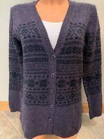 Marisa Christina Womens V-Neck Cardigan Purple Sweater Size M Medium
