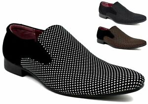 New Men's Italian Style Slip on Wedding Shoes Smart Formal Party Jazz spat Funky