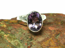 AMETHYST  Sterling  Silver  925  Gemstone  RING  -  Size: P  -  Gift Boxed