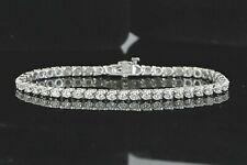 $7,250 14K Solid White Gold 2.80ct Round Diamond Prong Set 7'' Tennis Bracelet