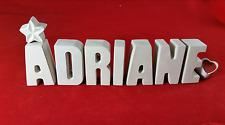 Beton, Steinguss Buchstaben 3D Namen Schriftzug ADRIANE als Geschenk verpackt