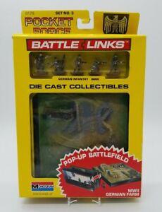 Monogram 8178 Set #3 Pocket Force Battle Links Die Cast WWII German Farm Pop-Up