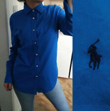 NEW Ladies Ralph Lauren royal blue relaxed fit long sleeve shirt UK 8 Small EU36