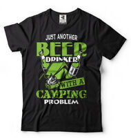 Funny Camping T-shirt Beer Drinker with Camping Problem Cool Camping Shirt