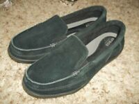 Women's CROCS Walu ll Black Suede Slip on Comfort Shoes Flats Loafers 10