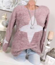 Feine Damen-Pullover & -Strickware aus Baumwolle mit Sterne