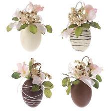 RAZ Ornaments - Chocolate Floral Easter Eggs  4pc.Set  #E2802257