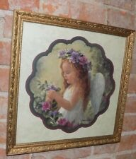 Home Interiors picture Little Girl With Angle Wings 17 X17 Laurie Sno Hein