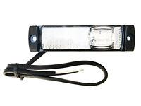 LED Begrenzungsleuchte 12/24V Umrissleuchte Weiß Anhänger LKW 130x32x14,5mm UNIV