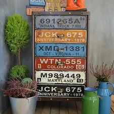 Industrial Chest Drawers Cabinet Cupboard Urban Loft Vintage Retro Metal Wood