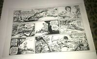 Tarzan Lord of Jungle Edgar Burroughs Strip Production Art Acetate