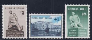BEL043 - 1951, Pro Monument National To Prisoner Unif. 860-862 New