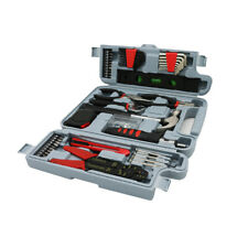 SAVWAY General Household Hand Tool Kit Home Repair Tool Set With Gray Carry Box