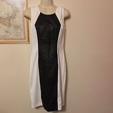 ECI White and Black Faux Leather Dress SIZE 4