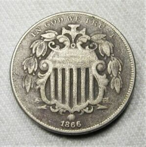 1866 Shield Nickel Coin AG793