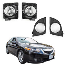 LH+RH Foglight Fog Light Lamp Cover Metal Without Bulbs For Acura TSX 09-2010 CA