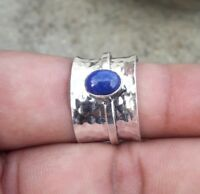 Lapis Lazuli Solid 925 Sterling Silver Meditation Ring Spinner Ring sr602
