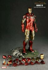 Hot Toys MMS 132 Iron Man 2 Mark VI 6 Tony Stark 1/6 Action Figure Preowned Mint