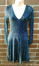 Lipsy black silver glitter dress size6 new with tags rrp £50 free 1st class post