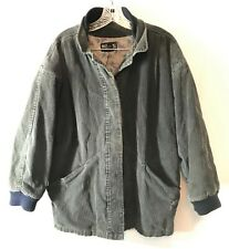 Nordstrom Point of View Corduroy Style Cotton Jacket Lined Gray Size M NICE