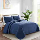 3-Piece+Oversize+Bedspread+Coverlet+Bed+Cover+Quilt+Set+Pillow+Shames+Twin+Size
