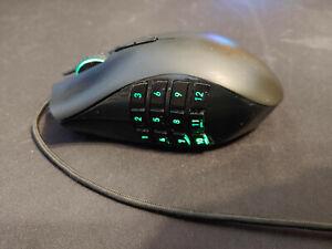 Razer Naga Epic Chroma Black 19 Buttons Tilt Wheel USB Wired/Wireless READ DESC
