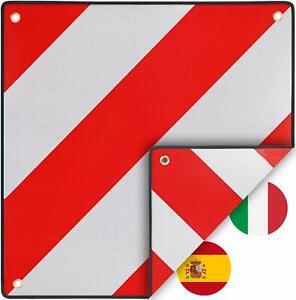 Warntafel für Italien u Spanien 2in1 (50 x 50 cm) - Reflektierendes Warnschild