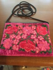 MEXICAN FLORAL VELVET. CROSSBODY PURSE. VERY COLORFUL. NEW