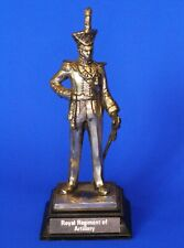 Royal Hampshire pewter military figurine - Royal Rgt Artillery *[17715]