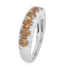 Brazilian Citrine Platinum Over Sterling Silver 7 Stone Ring (Size 7.0)