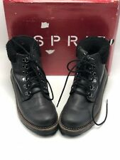 Esprit Women's Candis Hiker Boots Size 8.5 Black New In Box